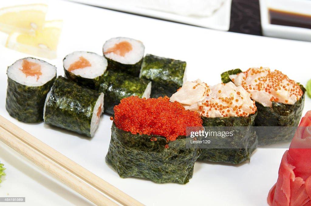 Japanese sushi restaurant : Stock Photo