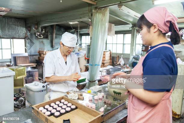 japanese sweet masters - candy factory stock pictures, royalty-free photos & images