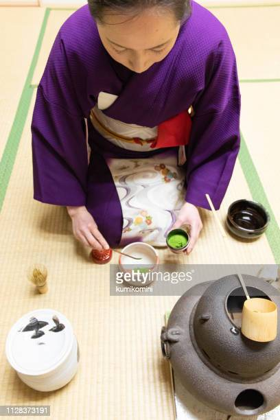 japanese tea ceremony - ceremony stock pictures, royalty-free photos & images