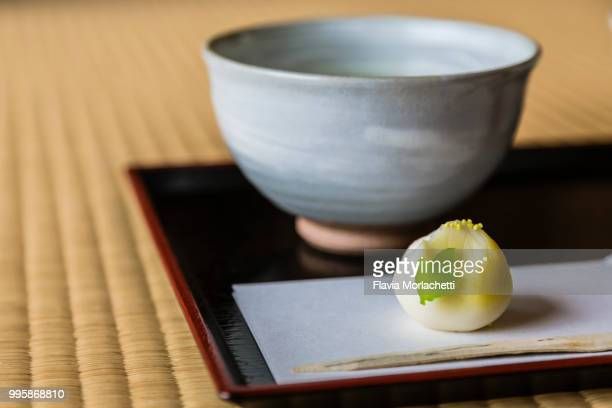 japanese tea ceremony - 和菓子 ストックフォトと画像