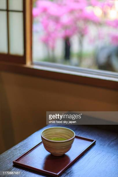 japanese tea in the tea room - feierliche veranstaltung stock-fotos und bilder