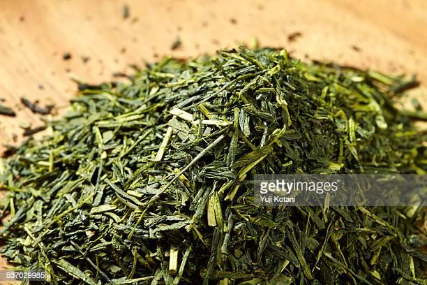 japanese tea - hoja te verde fotografías e imágenes de stock