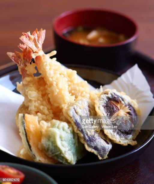japanese tempura (deep-fried) - 天ぷら ストックフォトと画像