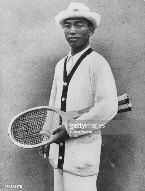 Japanese tennis player Zenzo Shimizu a finalist in the All Comers competition at Wimbledon in 1920 circa 1921