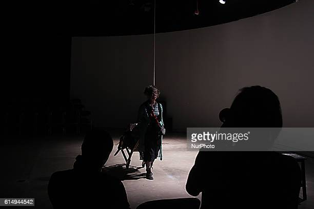 Japanese theater group Arica Theater Company performing at Salihara Gallery Jakarta Saturday October 15 2016 Delivering the theme quotButterfly...