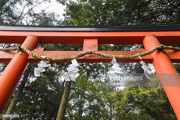 Giappone Torii cancello di escursioni in Arashiyama-Giappone