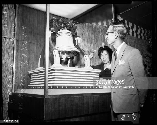 Japanese Trade Fair 15 November 1960 Mable RayamaYukio Hasumi Kiyoko Honda Setsuko YamajiMitsuke AmeniyaCaption slip reads 'Photographer Snow Date...