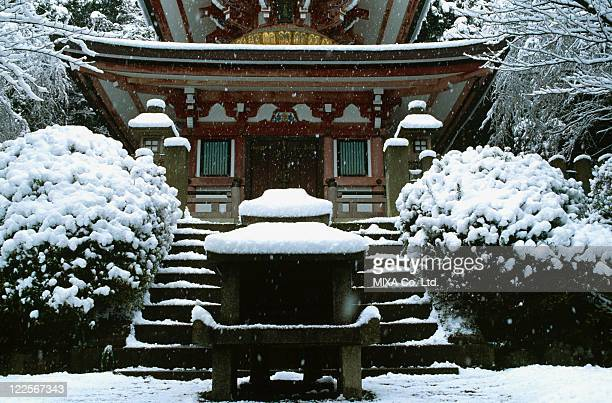 Japanese traditional architecture and snow
