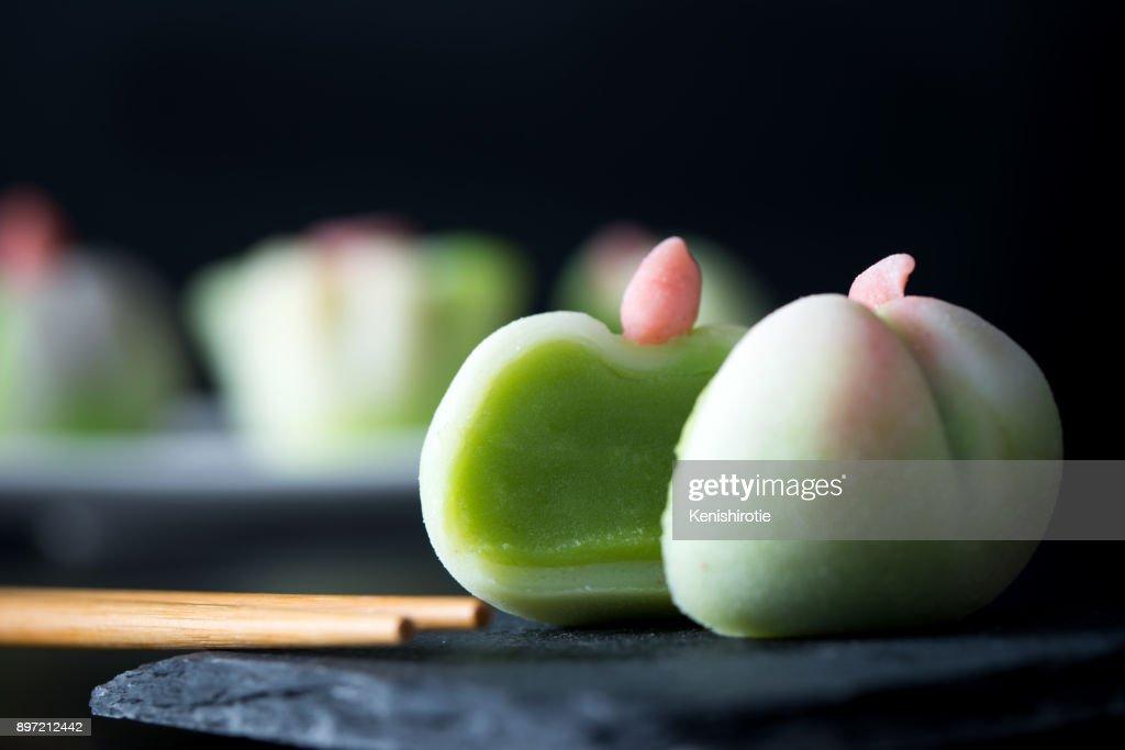 Japanese traditional confectionery wagashi : Stock Photo