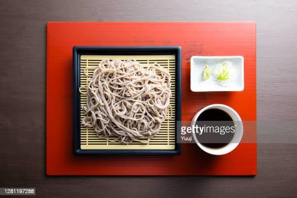 日本の伝統料理、ザルそばのレシピ - 蕎麦 ストックフォトと画像