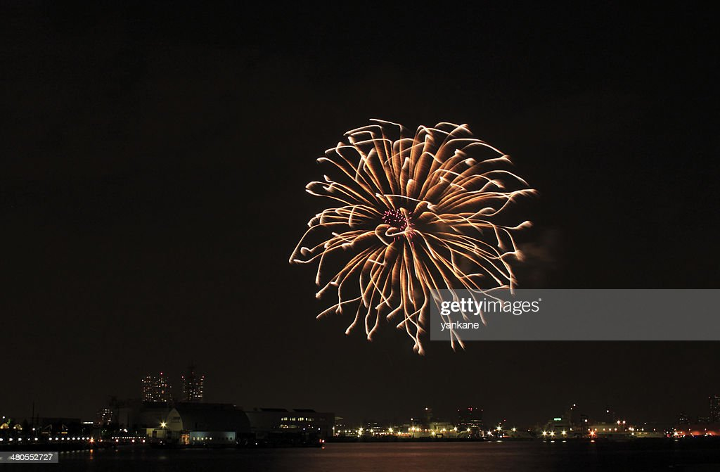 Japanese traditional fireworks : Stock Photo