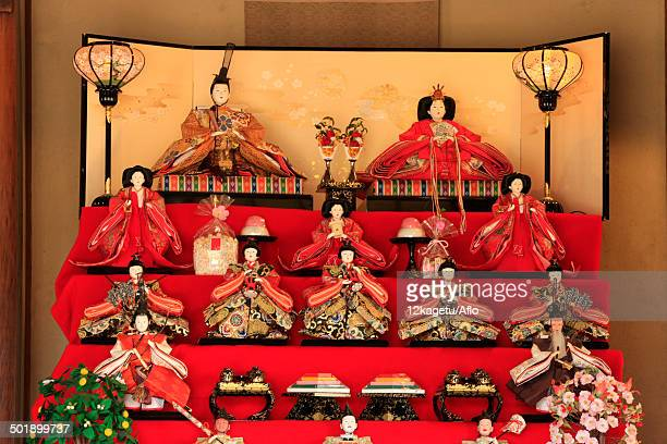 japanese traditional hina dolls - hinamatsuri stock pictures, royalty-free photos & images