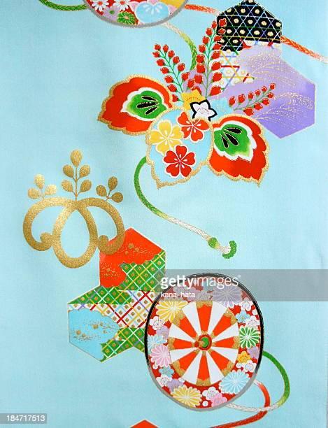Japanese traditional kimono fabric