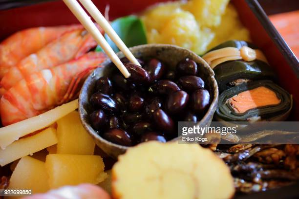 Japanese traditional New year's food called Osechi