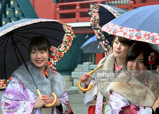 Japanese traditional vests during the Lunar New Year festivities in Tokyo