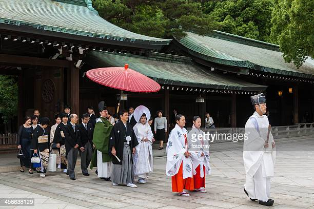 japanese traditional wedding - wedding ceremony stock pictures, royalty-free photos & images