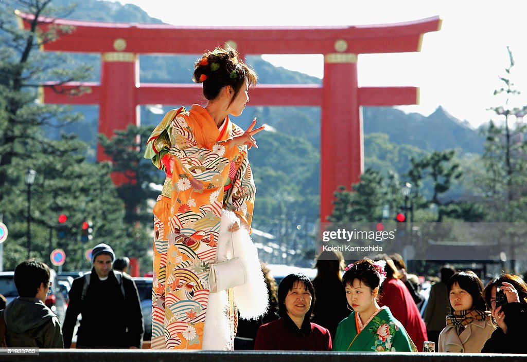 Japanese Celebrate Coming-of-Age Day : News Photo