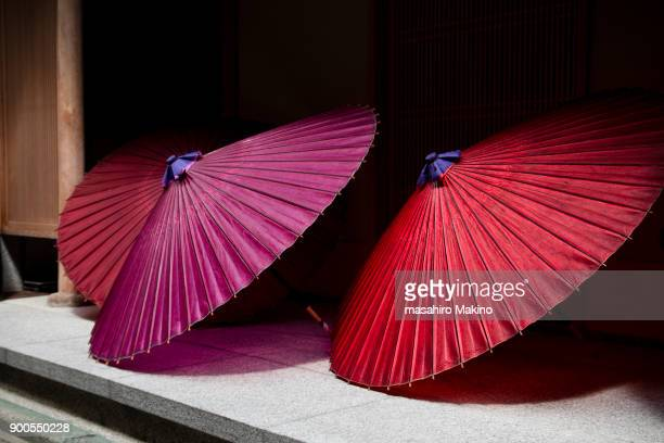 japanese umbrellas - craft product stock pictures, royalty-free photos & images