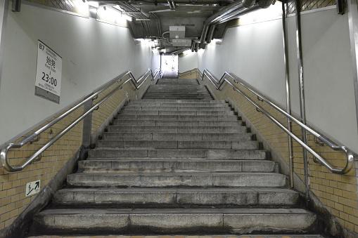 Japanese underground stairs - gettyimageskorea