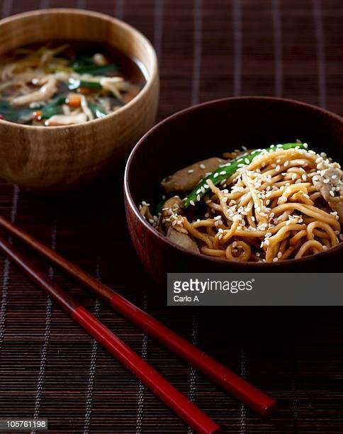 Japanese vegetable stir-fried noodles