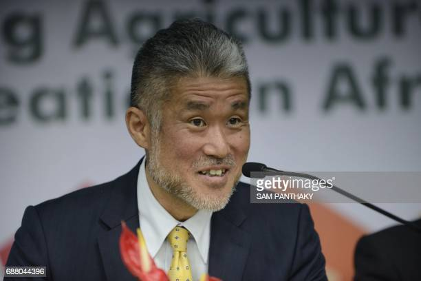 Japanese Vice President of the Tokyo International Conference on African Development Takao Toda speaks during a press conference on IndoJapanese...