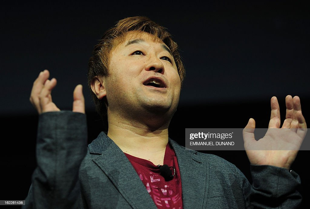 Japanese video game producer for Capcom, Yoshinori Ono, talks as Sony introduces the PlayStation 4 at a news conference February 20, 2013 in New York.