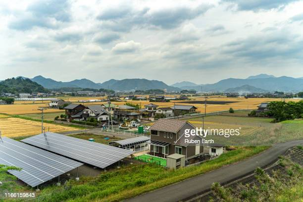 japanese village and farm houses in the country side - 村 ストックフォトと画像