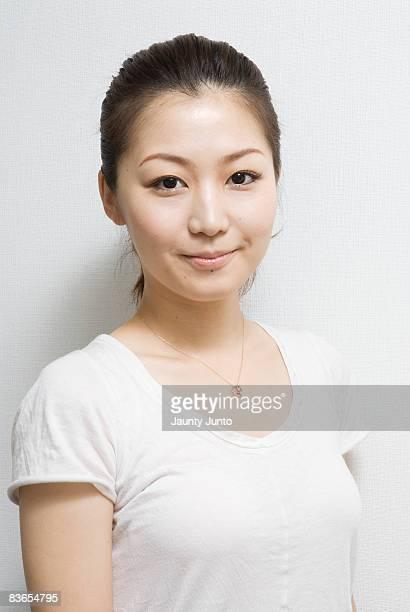 japanese woman headshot, smiling