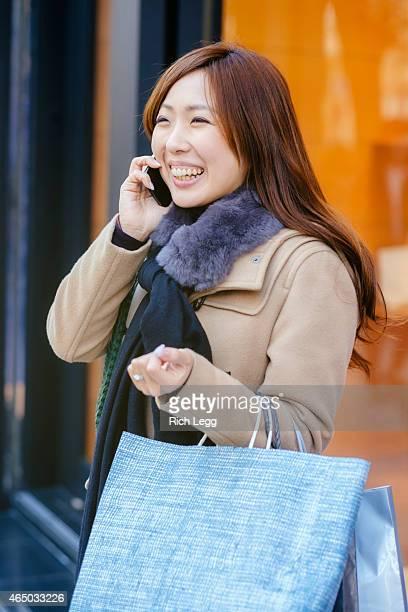 日本の女性、東京銀座