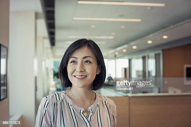 Japanese woman in office, portrait