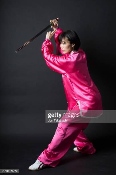 Japanese woman on black back ground