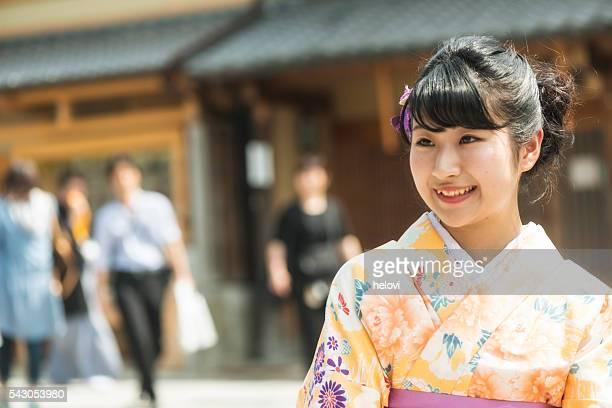 Japanese woman on Kyoto street