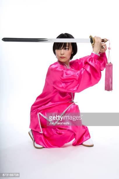 Japanese woman on white back ground