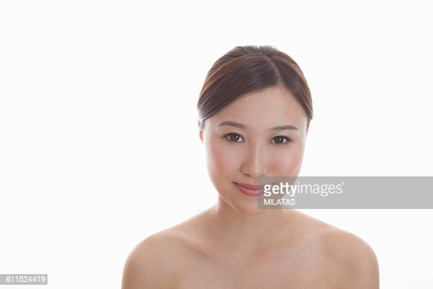 japanese woman - liver spot stock photos and pictures