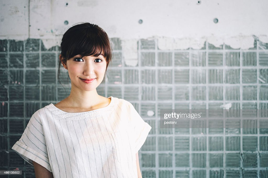 Japanese woman portrait. : Stock Photo