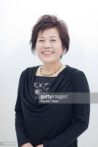 Japanese woman smiling portrait
