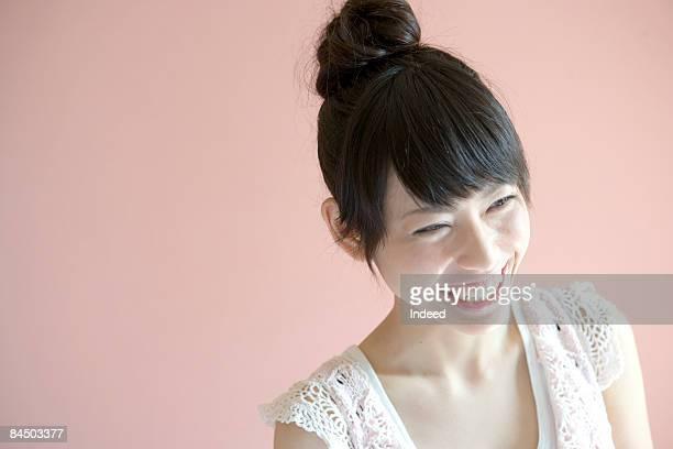 Japanese woman smiling, portrait