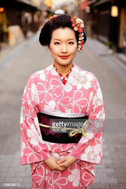 Japanese Woman Standing on the Street