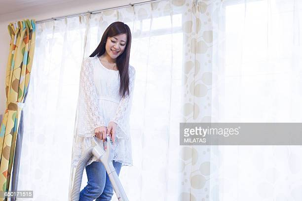 japanese woman to clean - tv housewife stock photos and pictures