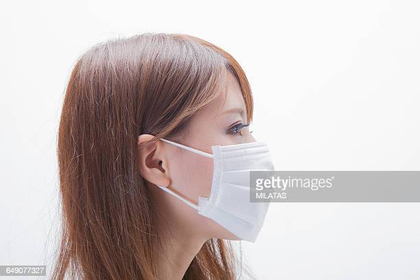 Japanese woman to the mask