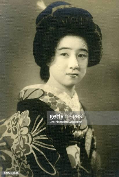 Japanese woman wearing kimono and traditional Japanese clothing