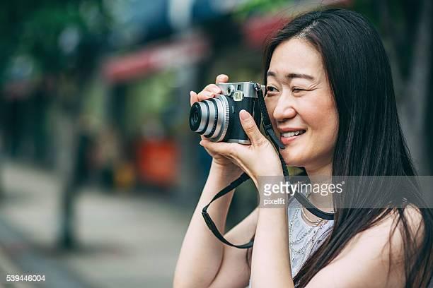 日本の女性、写真撮影