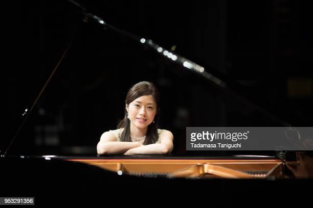 japanese woman with piano - pianist front stock pictures, royalty-free photos & images
