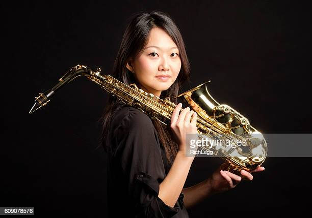Japanese Woman with Saxophone