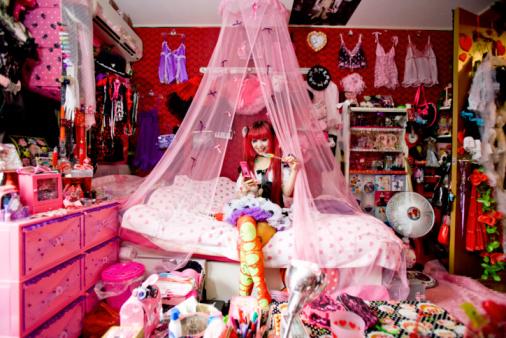 Japanese woman's bedroom - gettyimageskorea
