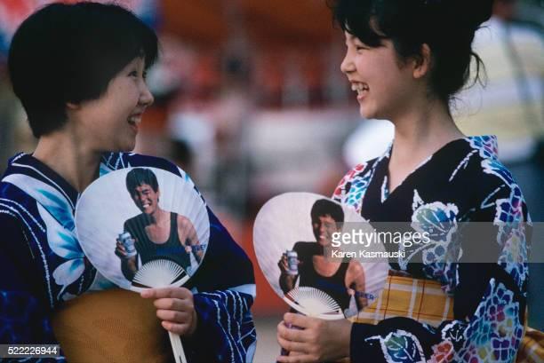 Japanese Women at Summer Festival