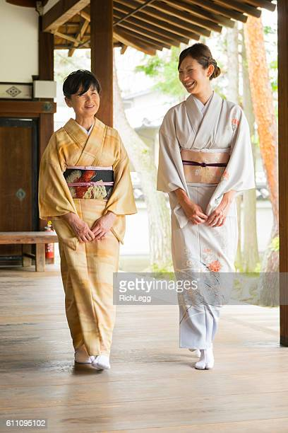 Japanese Women at the Temple