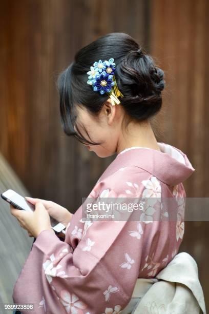 Japanische Frauen in traditionellen japanischen Kimono gekleidet