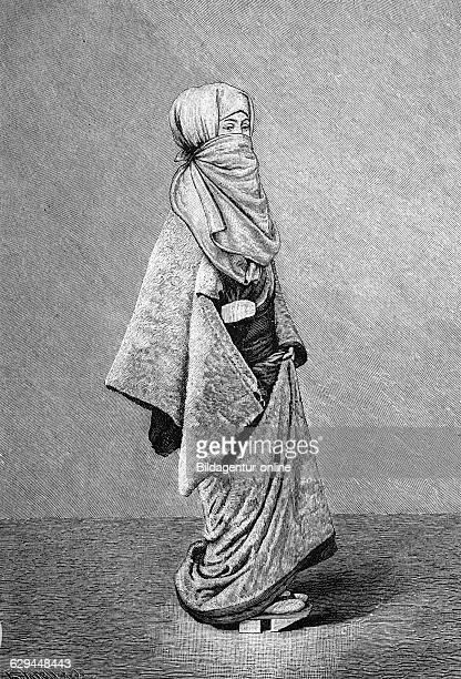 Japanese women's lives winter clothes of a japanese woman historical engraving 1883