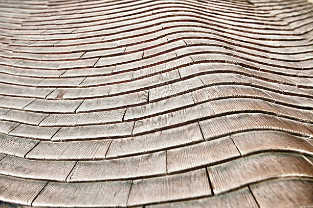 Japanese wooden roof